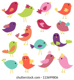 Vector Collection of Abstract Birds