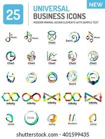 Vector collection of abstract company logo design concepts