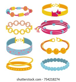 Vector collection of  accessories. All objects are conveniently grouped and easily editable.