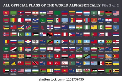 Vector collection of all flags of the world - file 2 of 2