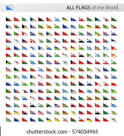 Vector Collection of All World Paper Corner Vector Flags