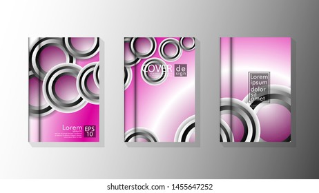 Vector collection of book cover backgrounds. eps 10 vector design illustrations. circle shape overlap