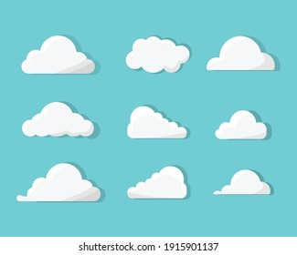 vector collection of bright cloud