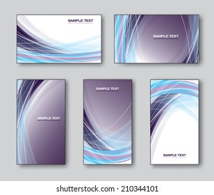 Vector Collection of Business Cards or Gift Cards.
