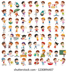 Vector Collection Of Cartoon Children