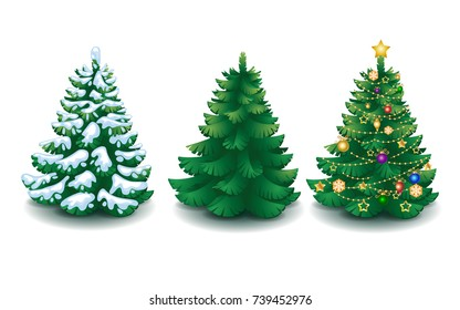 Christmas Tree Cartoon Images Stock Photos Vectors Shutterstock Colourfulness isn't needed this year. https www shutterstock com image vector vector collection cartoon christmas trees 739452976