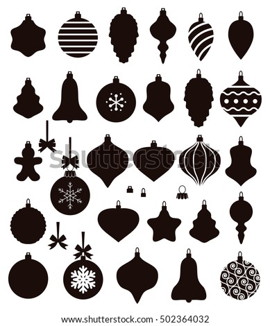 vector collection of christmas ball shapes baubles with bows for retro ornament background xmas