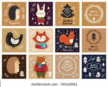 Vector collection of Christmas cards