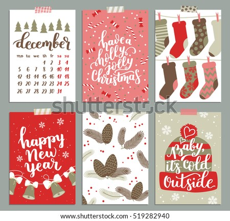 Vector collection christmas poster templates christmas stock vector vector collection of christmas poster templates christmas set of greeting cards bright colors maxwellsz