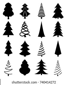 Christmas Trees Silhouette.Christmas Tree Silhouette Images Stock Photos Vectors