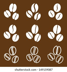 vector collection: coffee beans