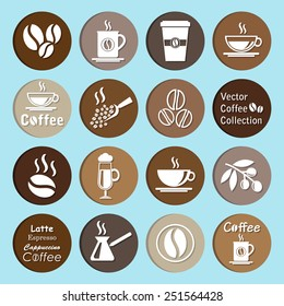 vector collection: coffee icons