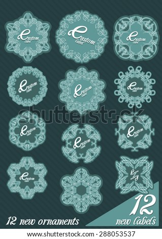 vector collection decorative label templates ornamental stock vector