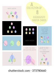 A vector collection of easter cards with wordplay