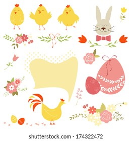 Vector collection of easter design elements