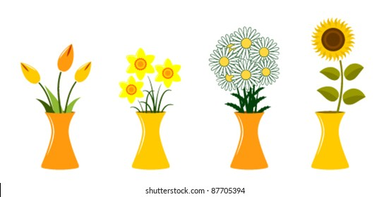 Vase With Sunflowers Images Stock Photos Vectors Shutterstock