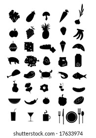 vector collection of food icons