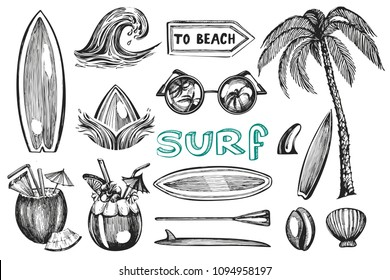 Vector collection with graphic surf items