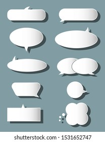 Vector collection of isolated speech bubbles . set of speech bubbles. Vector EPS 10.