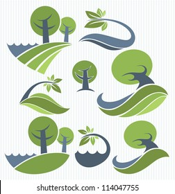 vector collection of landscape and nature symbols