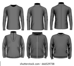 Vector collection of men clothes.