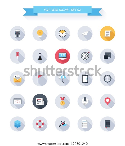 Vector Collection Modern Simple Flat Trendy Stock Vector