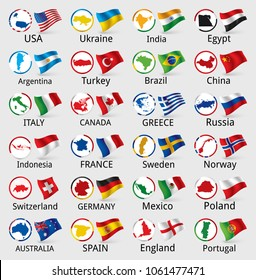 Vector collection of national flags
