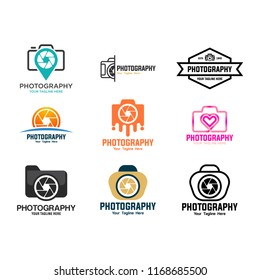 Vector collection of photography logo templates. Photography vintage badges and icons.
