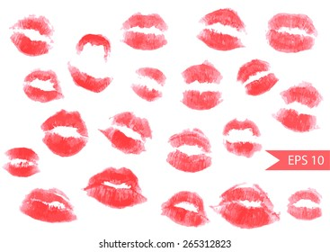 Vector Collection Print of Lips