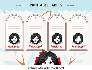 vector collection printable gift tags labels stock vector royalty