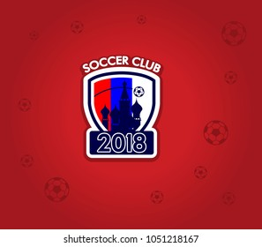 Vector collection of soccer club 2018 logo
