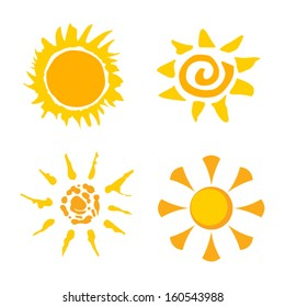 Vector collection of suns