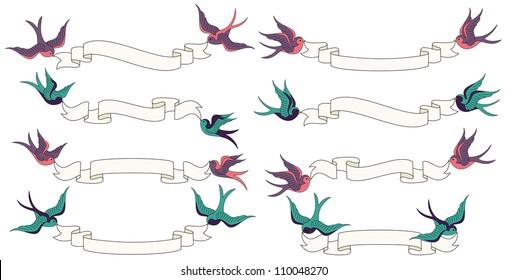 Birds Holding Ribbon Images Stock Photos Vectors Shutterstock