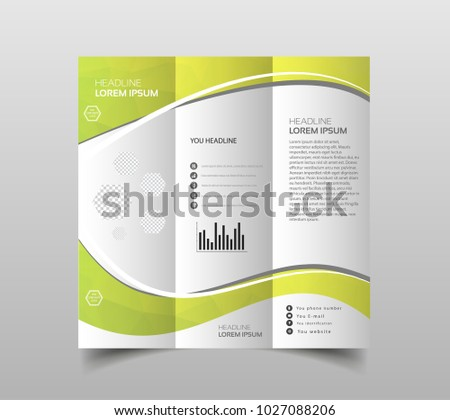 vector collection trifold brochure design templates stock vector