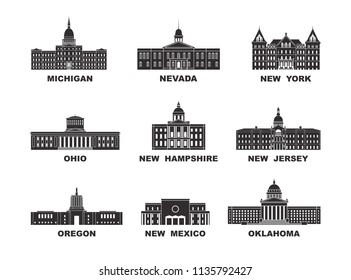Vector collection of United States city