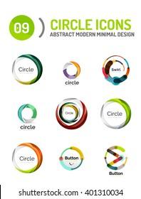 Vector collection of various circle logos