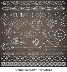 Vector collection of vintage design elements