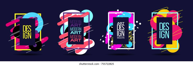 vector color abstract background in pop art style. modern art  frame for text post modern. dynamic frame stylish geometric. element for design  business cards, invitations, gift cards, flyers brochure