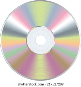 vector color blank CD or DVD disc