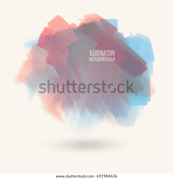 Vector Color Brush Strokes Watercolor Grunge Stock Vector