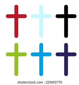 vector color crosses