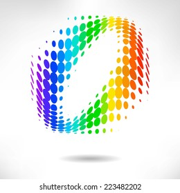 vector color dot background. abstract  halftone background