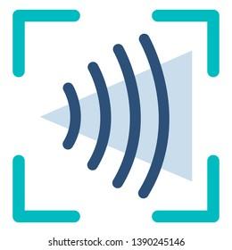 Vector Color Flat Icon - Voice Recognition