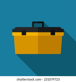 Vector color flat toolkit icon. Industrial equipment. Eps10