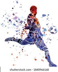 Vektorgrafik von Fußballspielern