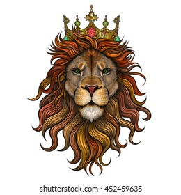 Vector Color King Lion Illustration
