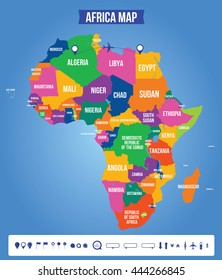 Map Of Africa Labeled.Similar Images Stock Photos Vectors Of Labeled Map Of Africa