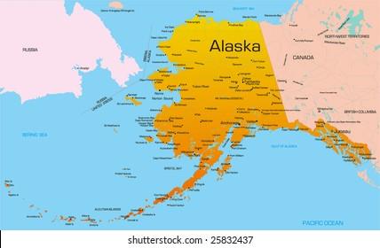 Alaska Map Images, Stock Photos & Vectors | Shutterstock