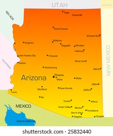 Map Of Arizona To Mexico.Arizona Map Images Stock Photos Vectors Shutterstock