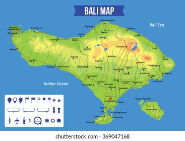 Map of bali stock images royalty free images vectors shutterstock vector color map of bali with capital denpasar important cities and roads all objects gumiabroncs Choice Image